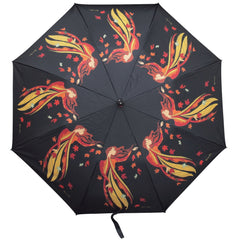 Maxine Noel Leaf Dancer Artist Collapsible Umbrella
