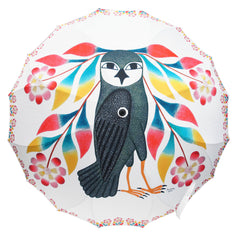 Kenojuak Ashevak Owl's Bouquet Artist Full Panel Umbrella