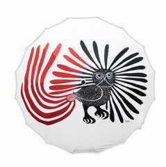 Kenojuak Ashevak Enchanted Owl Artist Full Panel Umbrella