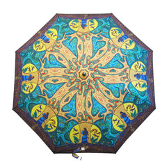 Leah Dorion Strong Earth Woman Artist Collapsible Umbrella