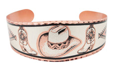 Cowboy Hat Copper Bracelet