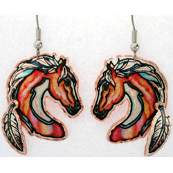 Horse Colourful Multiple Earrings