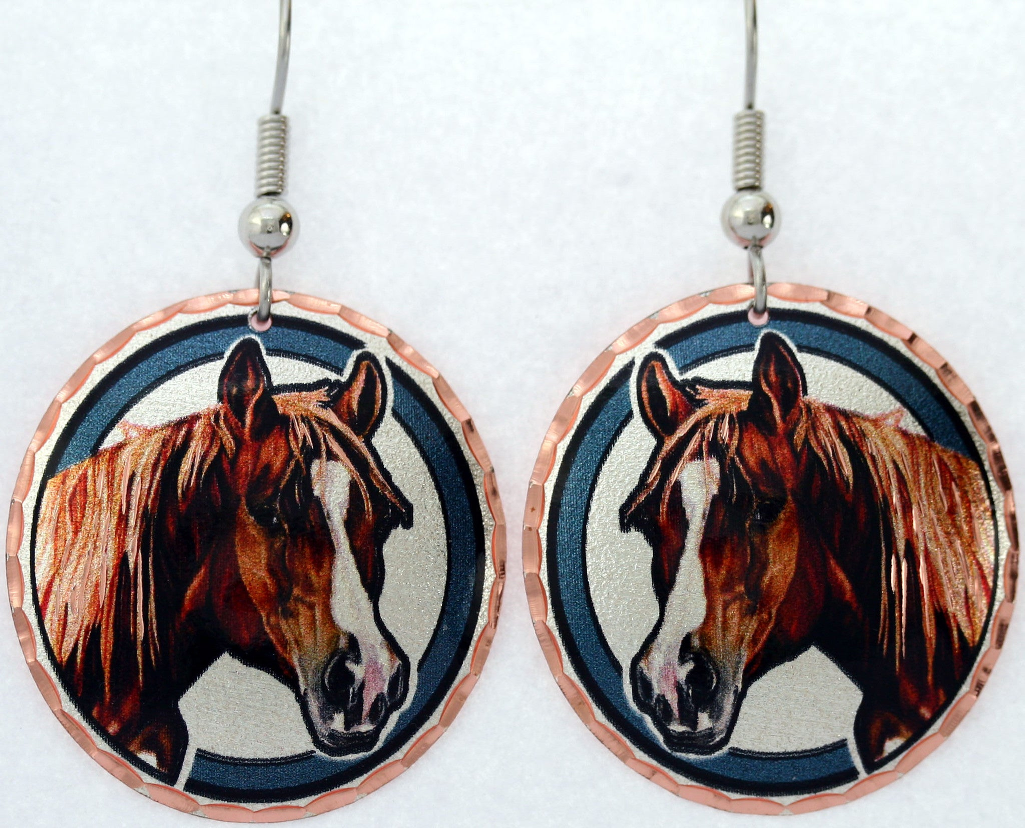 Horse Colourful Lynn Bean Earrings