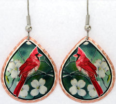 Cardinal Bird Colourful Lynn Bean Earrings