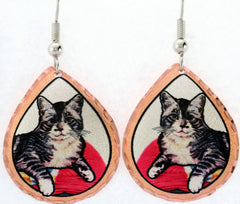 Cat Colourful Lynn Bean Earrings