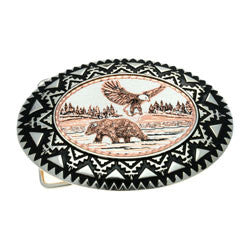 Bear & Eagle Belt Buckle