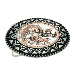 Wolf & Eagle Belt Buckle