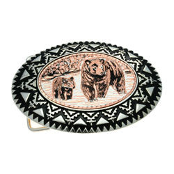 Bear and Cub Belt Buckle