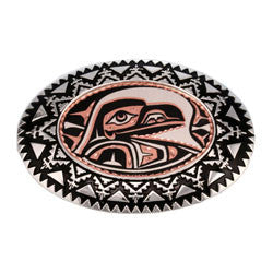 Native Raven Belt Buckle