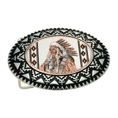 Native Indian Belt Buckle