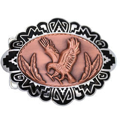 Eagle Embossed Belt Buckle