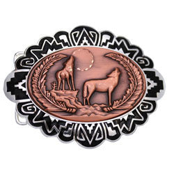 Wolf Embossed Belt Buckle