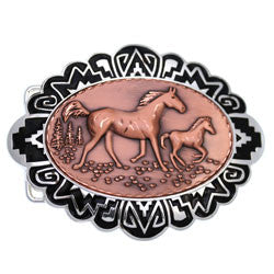 Horse Embossed Belt Buckle