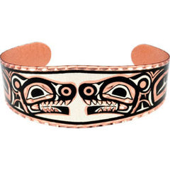 Native Wolf Copper Bracelet