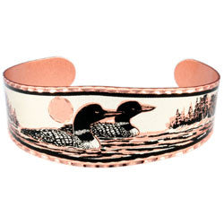 Loon Copper Bracelet
