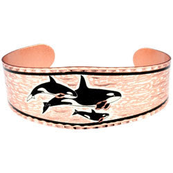 Killer Whale Copper Bracelet