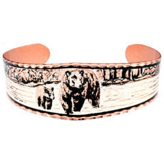 Bear and Cubs Copper Bracelet