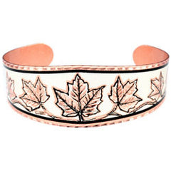 Maple Leaf Copper Bracelet