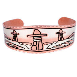 Native Inukshuk Copper Bracelet