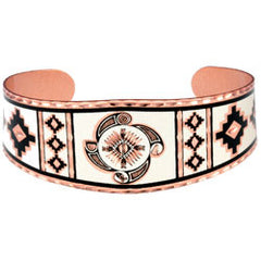 Native Wheel Copper Bracelet