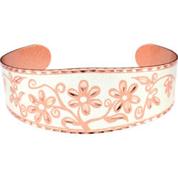 Floral Design Copper Bracelet