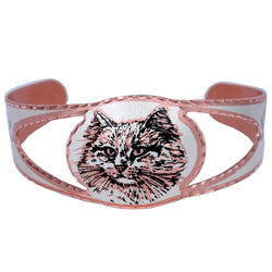 Cat Copper Cut-out Bracelet