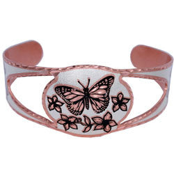 Buttefly Copper Cut-out Bracelet