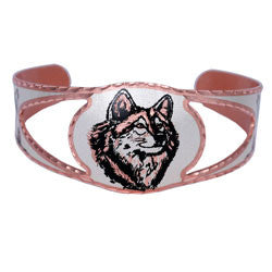 Wolf Copper Cut-out Bracelet