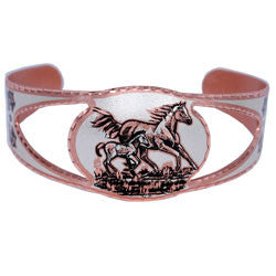 Horse Copper Cut-out Bracelet