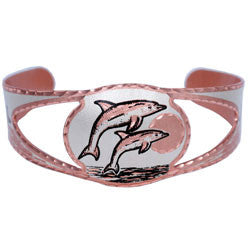 Dolphin Copper Cut-out Bracelet