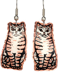 Cat Copper Earrings