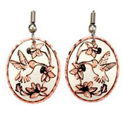 Hummingbird Copper Earrings