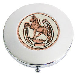 Horse and Horseshoe Compact Mirror