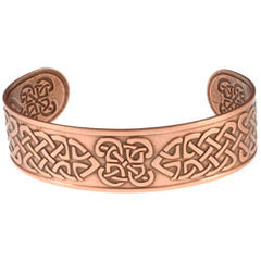 Celtic design Embossed Copper Bracelet