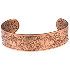 Angel Embossed Copper Bracelet - Oscardo