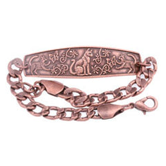 Cat Embossed Chain Bracelet