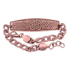 Celtic Design Embossed Chain Bracelet
