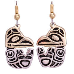 Native Raven Haida Earrings