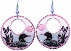 Loon Round Cut-out Earrings