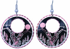 Eagle Round Cut-out Earrings