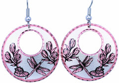 Dragonfly Round Cut-out Earrings