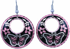 Butterfly Round Cut-out Earrings