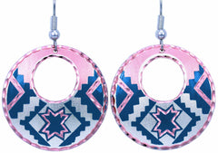 Native Design Round Cut-out Earrings