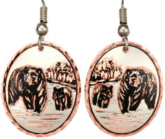 Bear Copper Earrings