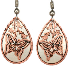 Butterfly Copper Earrings