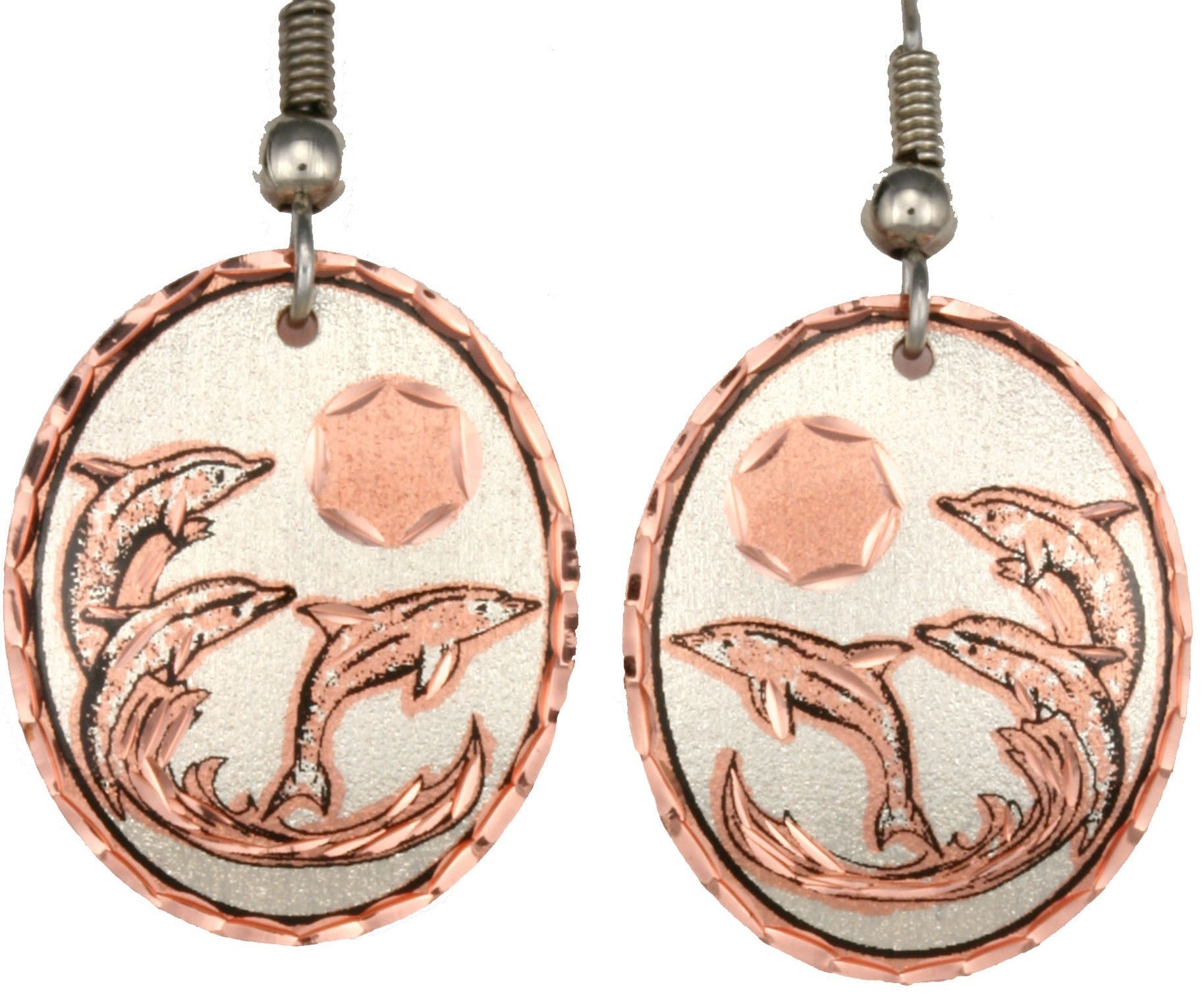 Dolphin Copper Earrings