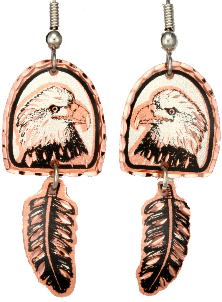 Eagle Copper Earrings