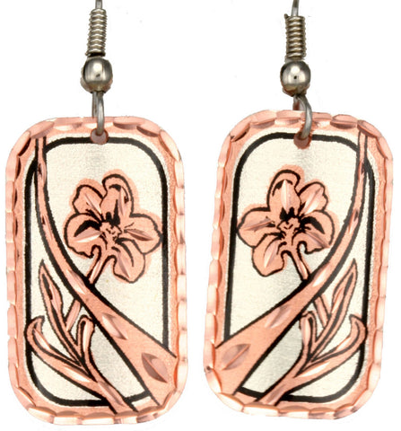 Flower Copper Earrings
