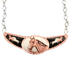 Horse Copper Diamond Cut Choker