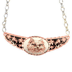 Cat Copper Diamond Cut Choker